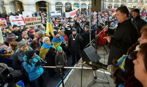 Порошенко, конференция, Мюнхен, митинг украинцев, мир в Украине, Донбасс, изоляция России