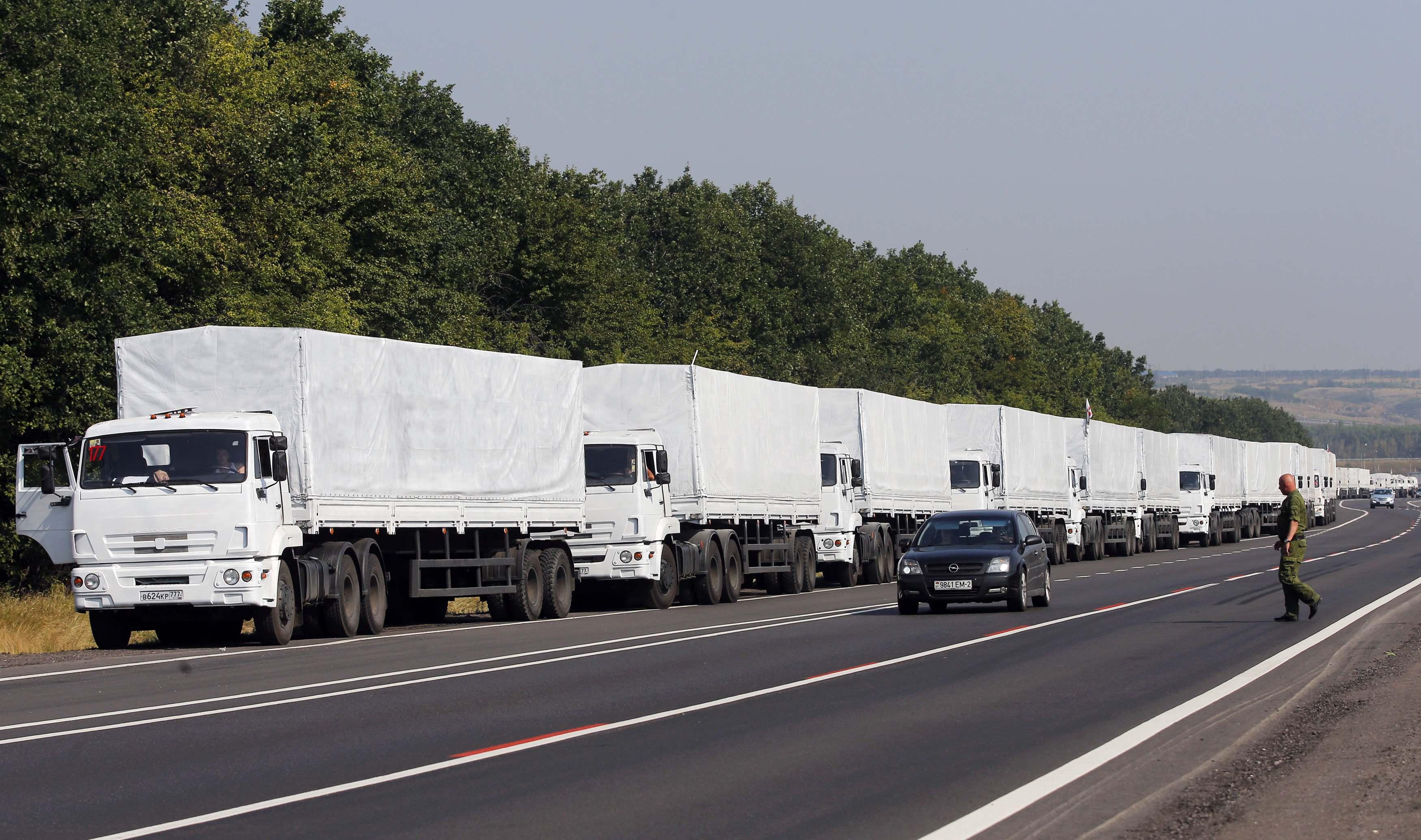 Гуманитарному конвою РФ запретили остановки во время движения по Украине