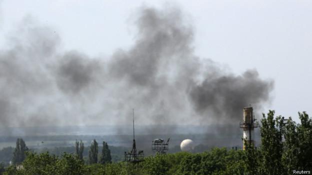 В Донецке опять слышны взрывы: пожар в районе аэропорта