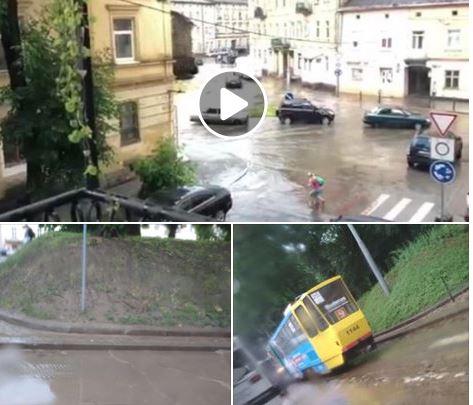 погода, львов, ливень, град, фото, видео, происшествия, пострадавший