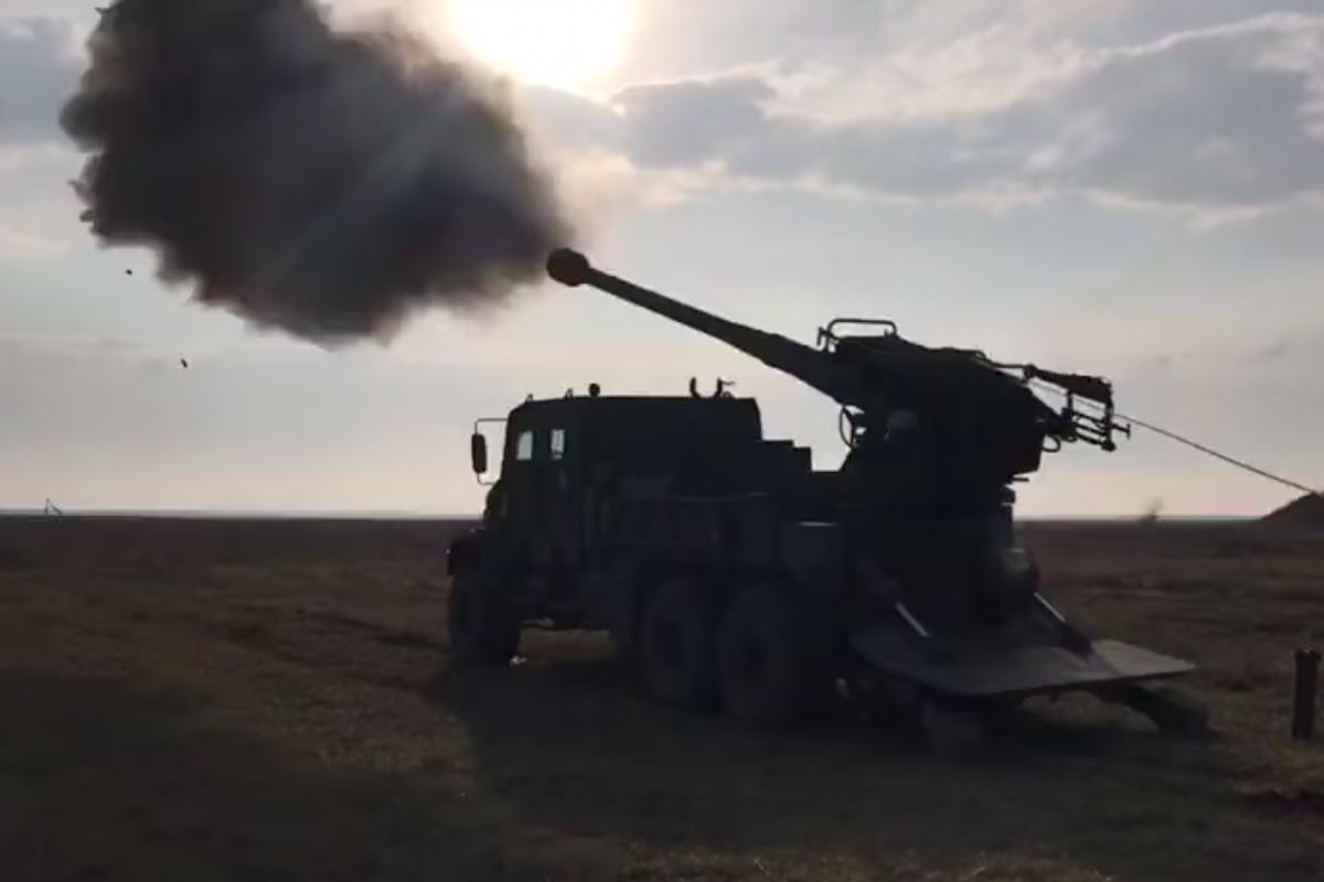 """САУ """"Богдан"""" испытали под Днепром: видео работы первой украинской установки по стандартам НАТО"""