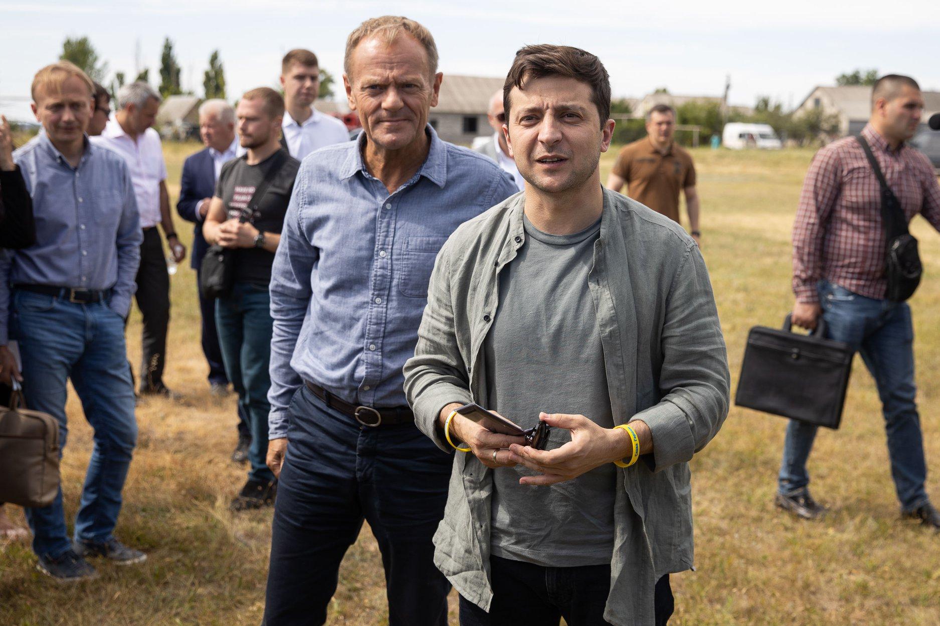 Зеленский провел жесткие переговоры с Туском накануне встречи