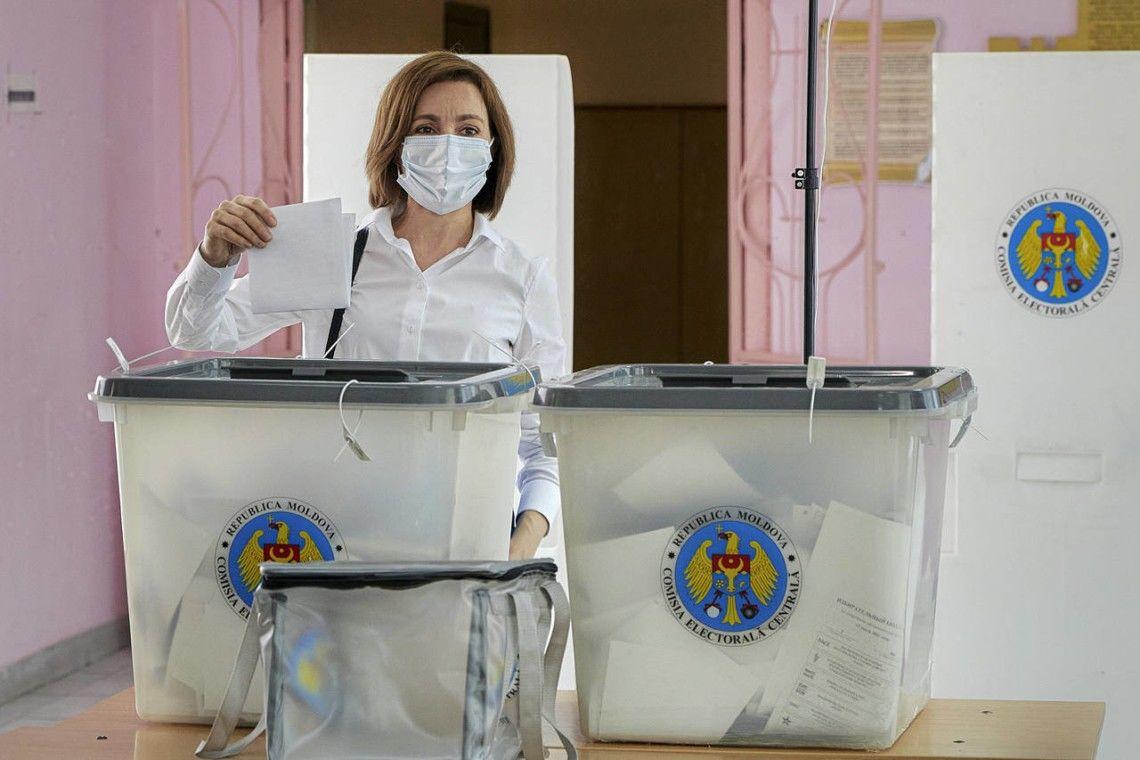Выборы в Молдове: Майя Санду получила большинство в парламенте