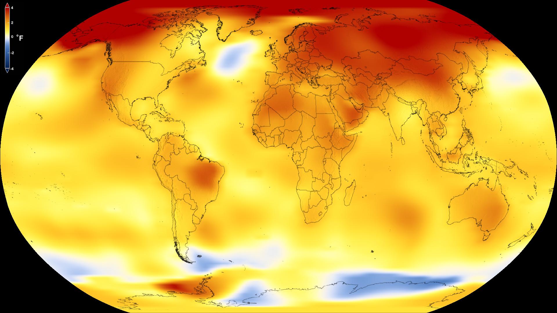 Пекло на Земле: специалисты NASA показали изменения температур на планете за 140 лет - кадры