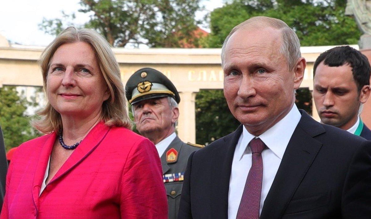 Для Кнайсль свадебные танцы с Путиным ничего не значат: глава МИД Австрии призвала к новым санкциям против России
