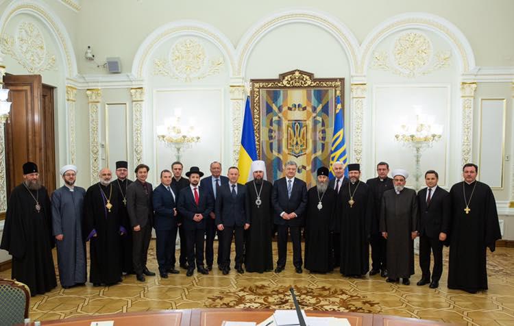 Петр Порошенко, президент Украины, политика, новости, Совет церквей, религия, владыка Епифаний