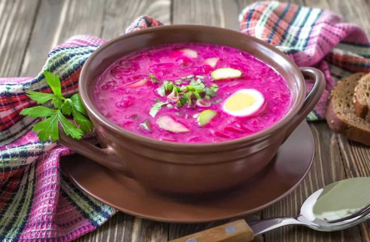 холодный суп из свеклы рецепт с фото звезду