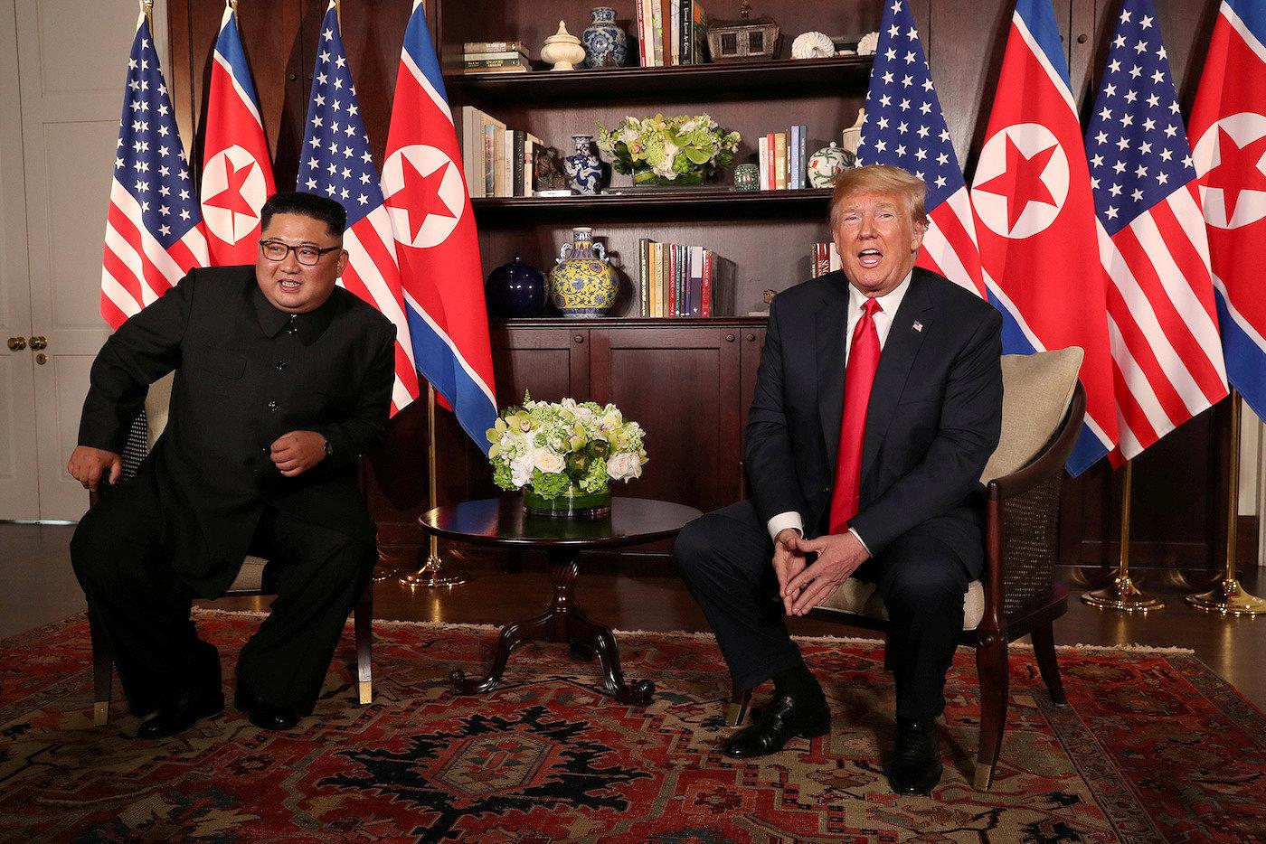 Историческая встреча Трампа и Ким Чен Ына: опубликованы фото и первые подробности