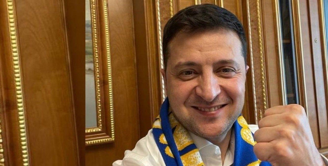 """Зеленский продолжает флешмоб перед матчем Украина – Англия на Евро – 2020: """"Домой пока рано"""""""