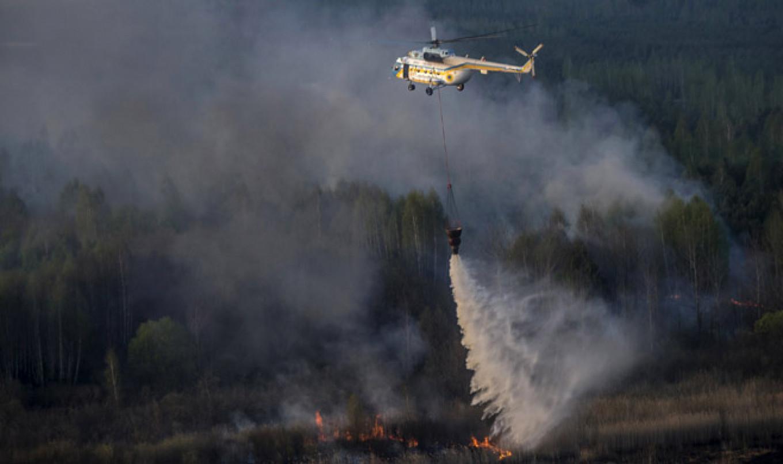 Чернобыль в огне: мощный пожар бушует в Зоне отчуждения