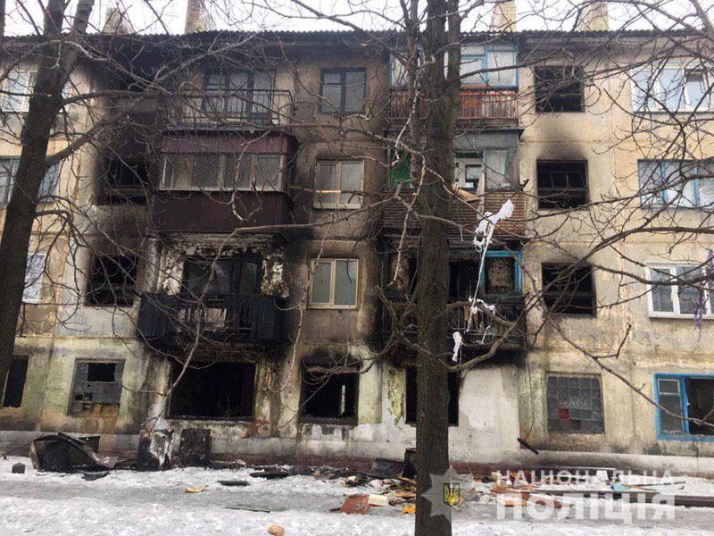 украинск, газовый баллон, пострадавшие, взрыв, происшествия, фото