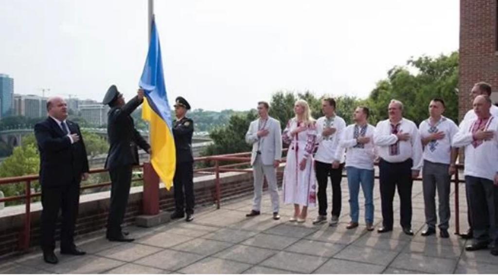 Украина, политика, США, флаг, День государственного флага, видео