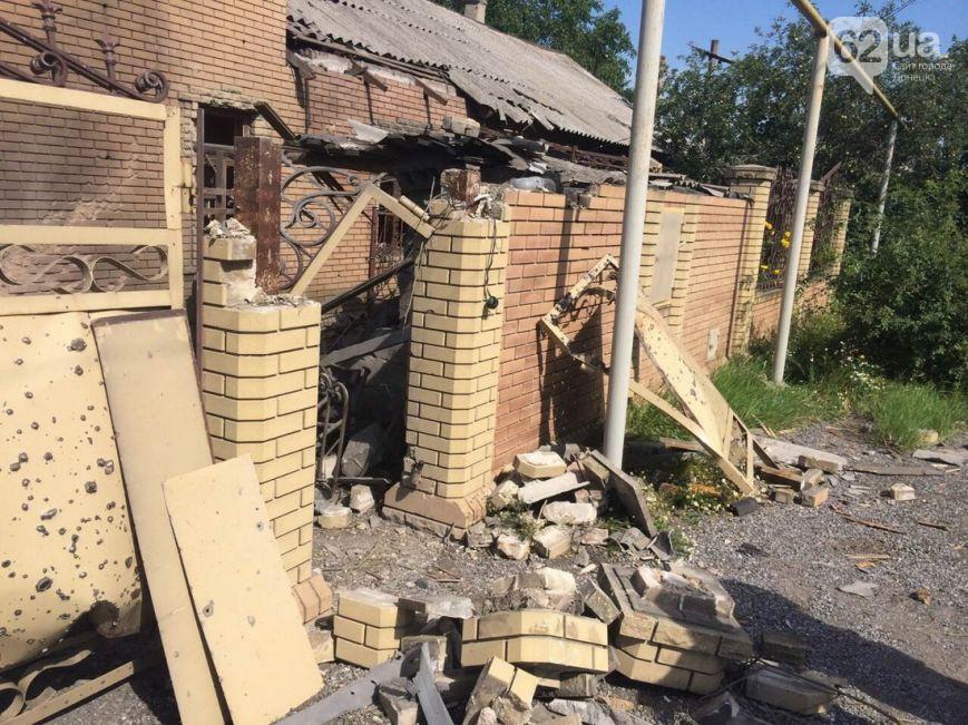 Разрушения после обстрела Донецка