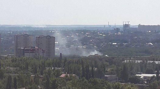 Снаряд попал в больницу Вишневского в Донецке