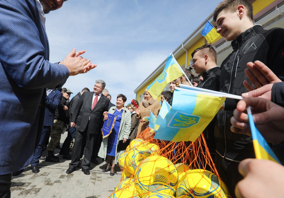 футбол, Динамо-Мариуполь, Петр Порошенко, Волноваха, новости, Украина, президент, Донбасс