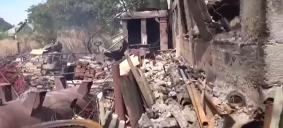 В Моспино в результате обстрелов уничтожена целая улица