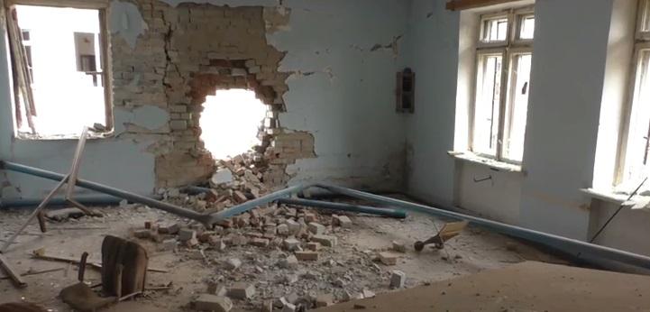 Как выглядит исправительная колония №124 после бомбежки в Донецке