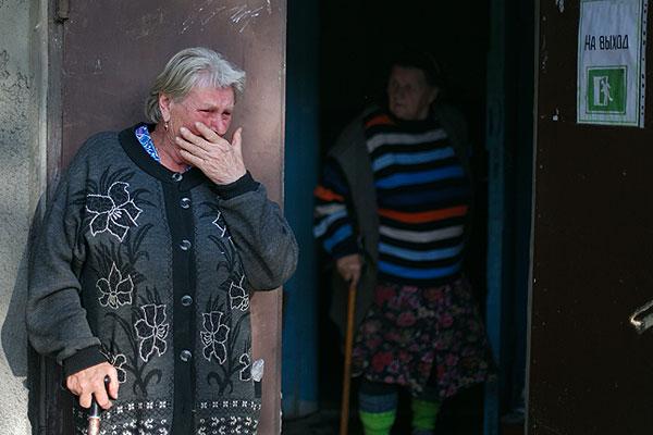 В эпицентре обстрела в Донецке – ул. Бакинских Комиссаров