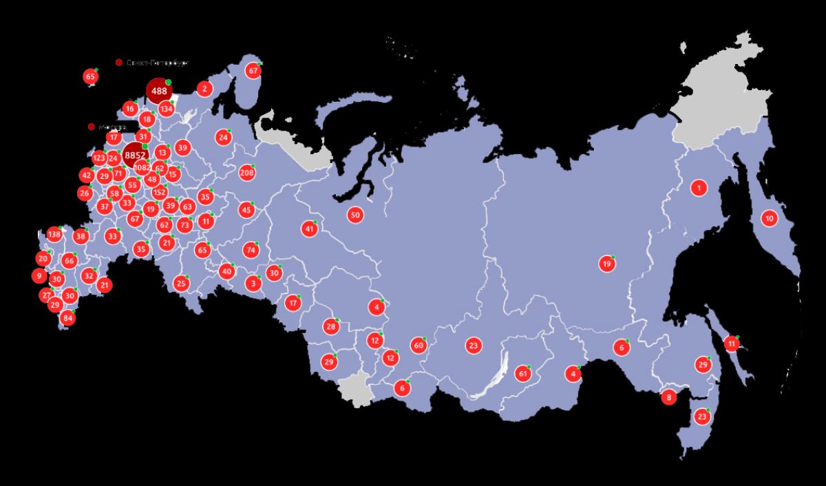 Вспышка коронавируса в России: общее число подскочило почти до 50 000, в Москве ситуация сложная