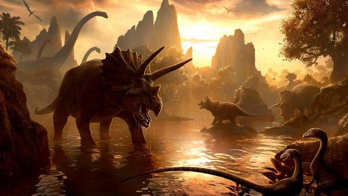динозавры, вымирание, астероид