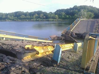 Как выглядит взорванный в Зугрэсе мост