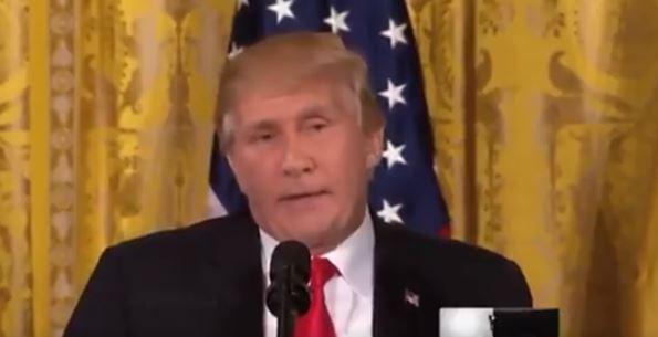 трампутин, лицо, путин, трамп, президент сша, президент россии, смотреть видео, соцсети, шок
