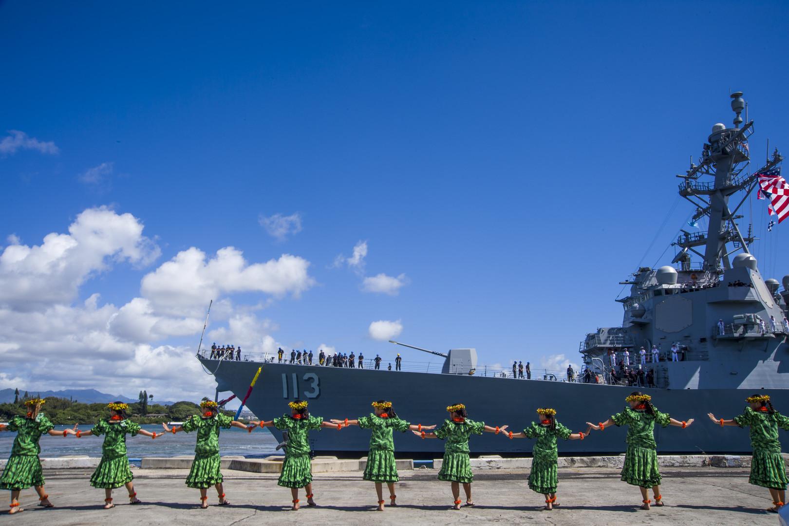 Американские ВМС пополнились быстроходным эсминцем нового образца - кадры