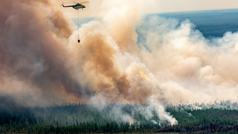 """Все в дыму: """"Роскосмос"""" выложил в Сеть кадры Якутии, окутанной смогом"""