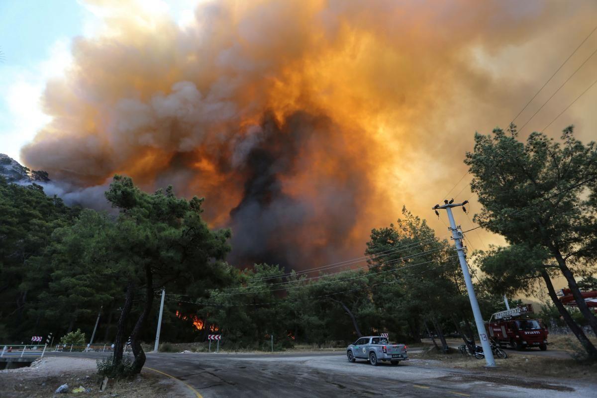 Из-за масштабных пожаров целые регионы в Турции объявлены зоной бедствия