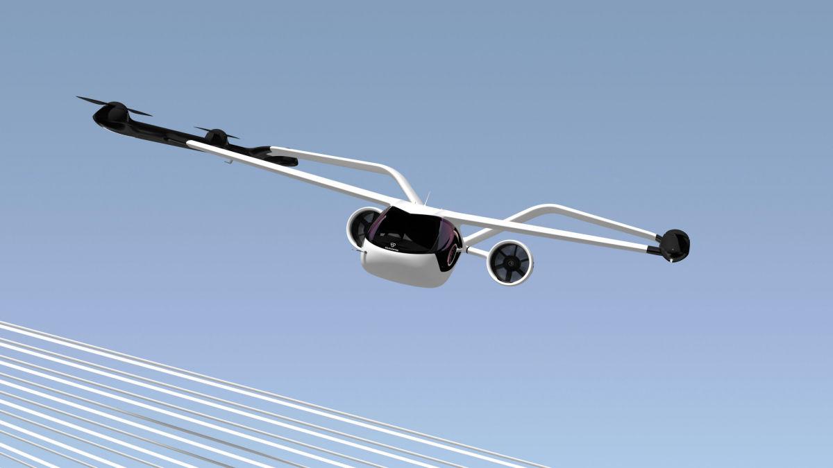 До 250 км/ч на двух винтах: в Германии представили новое аэротакси VoloConnect - яркие кадры