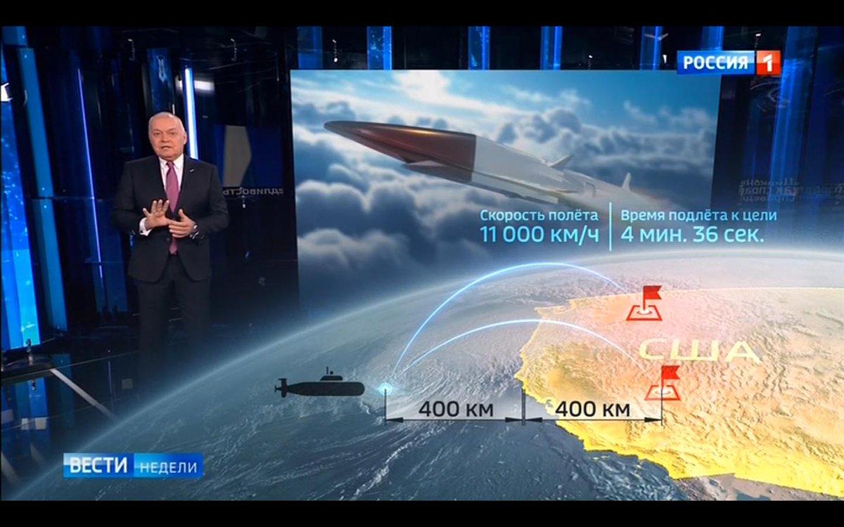 Киселев показал ядерный удар России по США после крупного конфликта: соцсети удивила подозрительная деталь