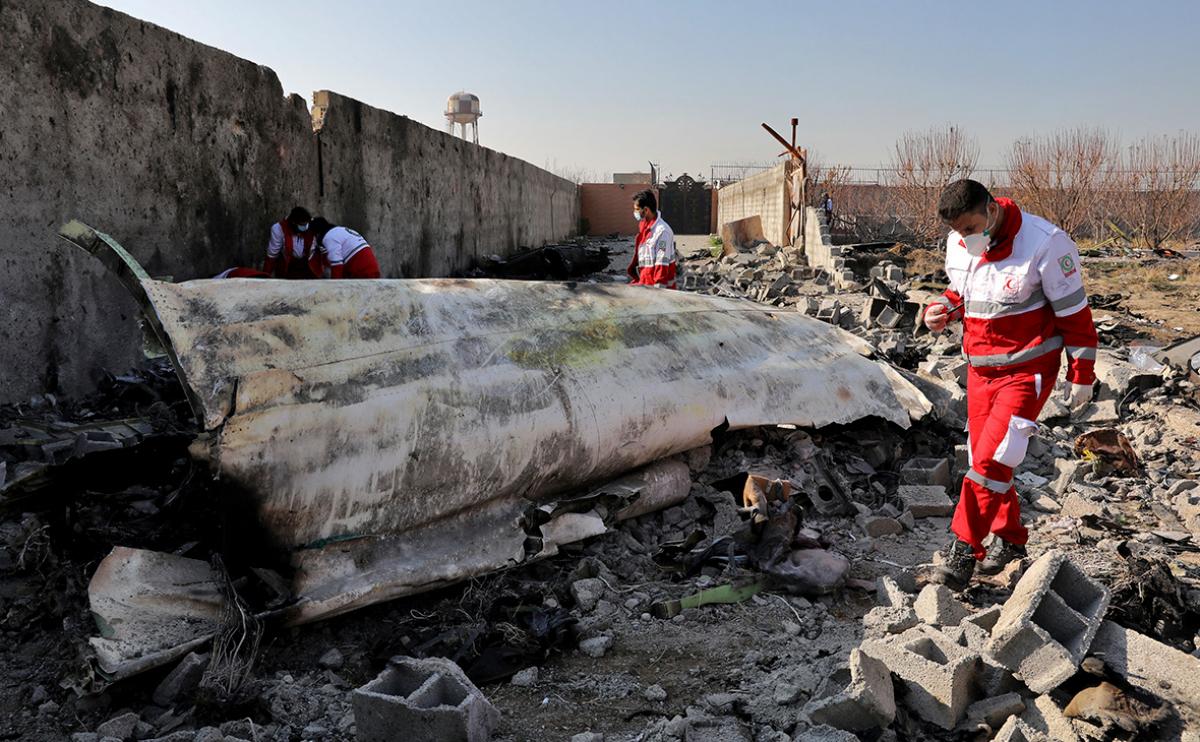 Иран, самолет, крушение, арест, свидетель