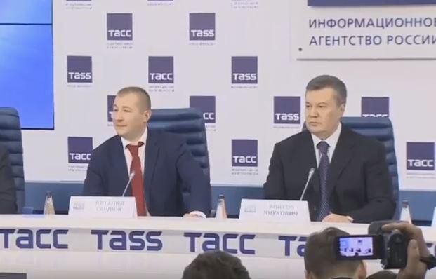 """Янукович призвал к переговорам с террористами Донбасса и пообещал лично организовать встречу Украины и боевиков """"ЛНР/ДНР"""" - кадры"""