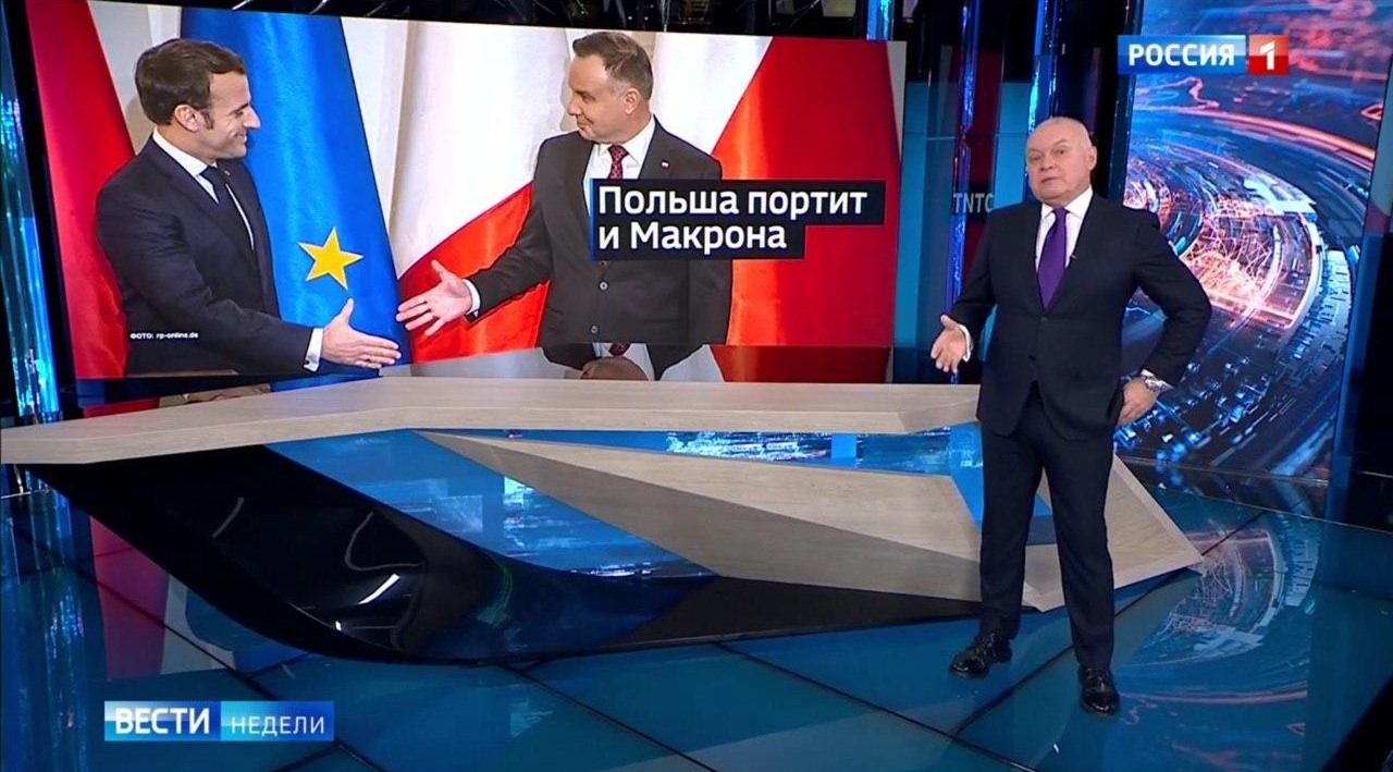 Дмитрий Киселев, критикуя Макрона, попался на советском фейке о Сталине