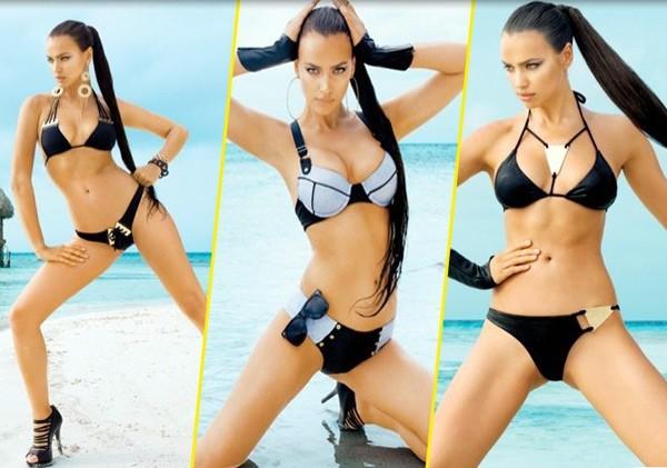 Сексуальная Ирина Шейк снялась в новой рекламе купальников