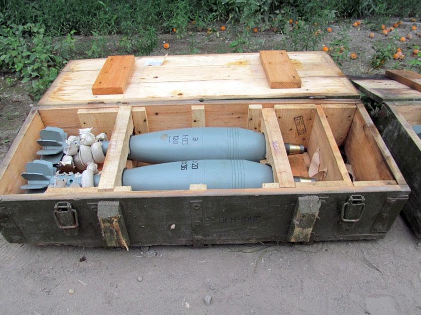 В Краматорске выявлены замаскированные ящики с боеприпасами
