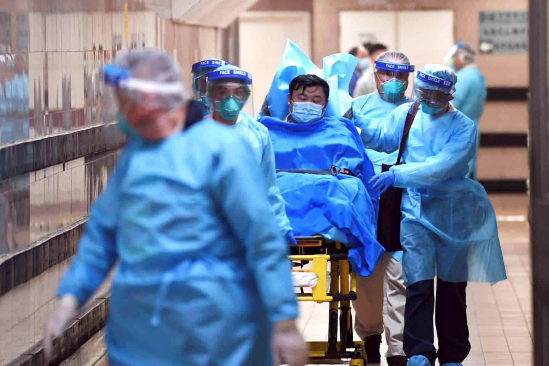 Китай, Вирус, Коронавирус, Заражение, Падают, Люди, Медики, Защита