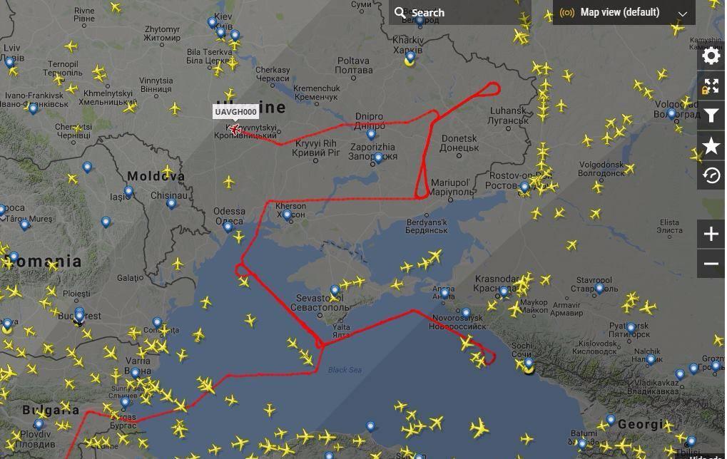 Кремлю остается только кусать локти: американский дрон RQ-4 GlobalHawk провел разведку у берегов Крыма и Новороссийска - кадры