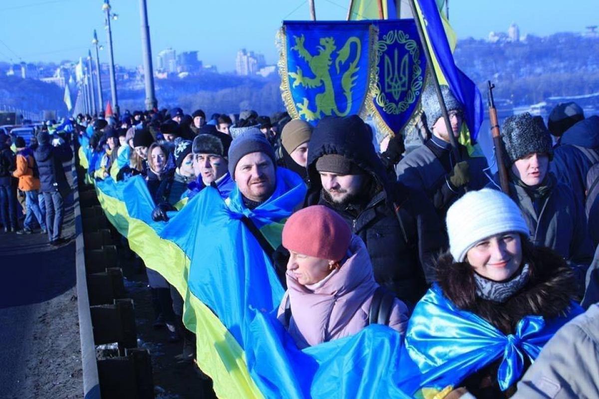 Киев, День Соборности, обращение, видео акция