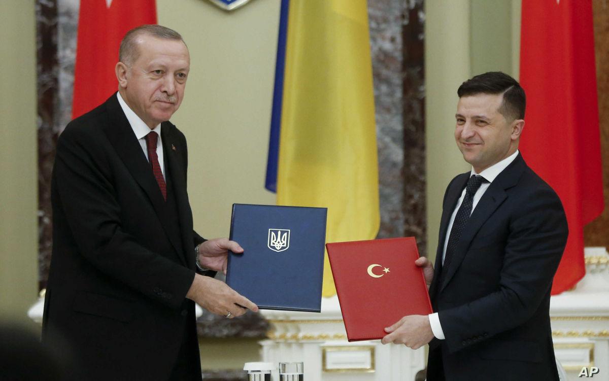 """Эрдоган на встрече с Зеленским: """"Украину не оставим без помощи, страны НАТО на стороне Украины"""""""