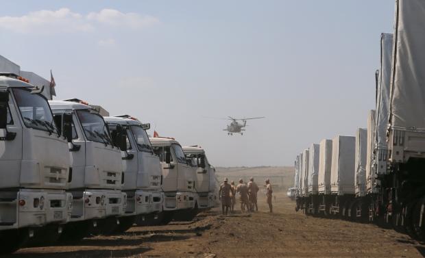 Украина приступила к таможенной проверке гуманитарного груза из РФ