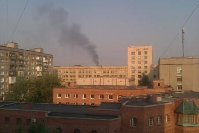 Утренняя бомбежка Смолянки в Донецке