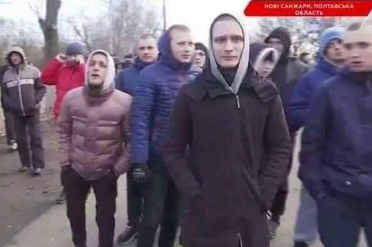 санжары, титушки, украина, скандал, беспорядки, вирус, китай, эвакуация