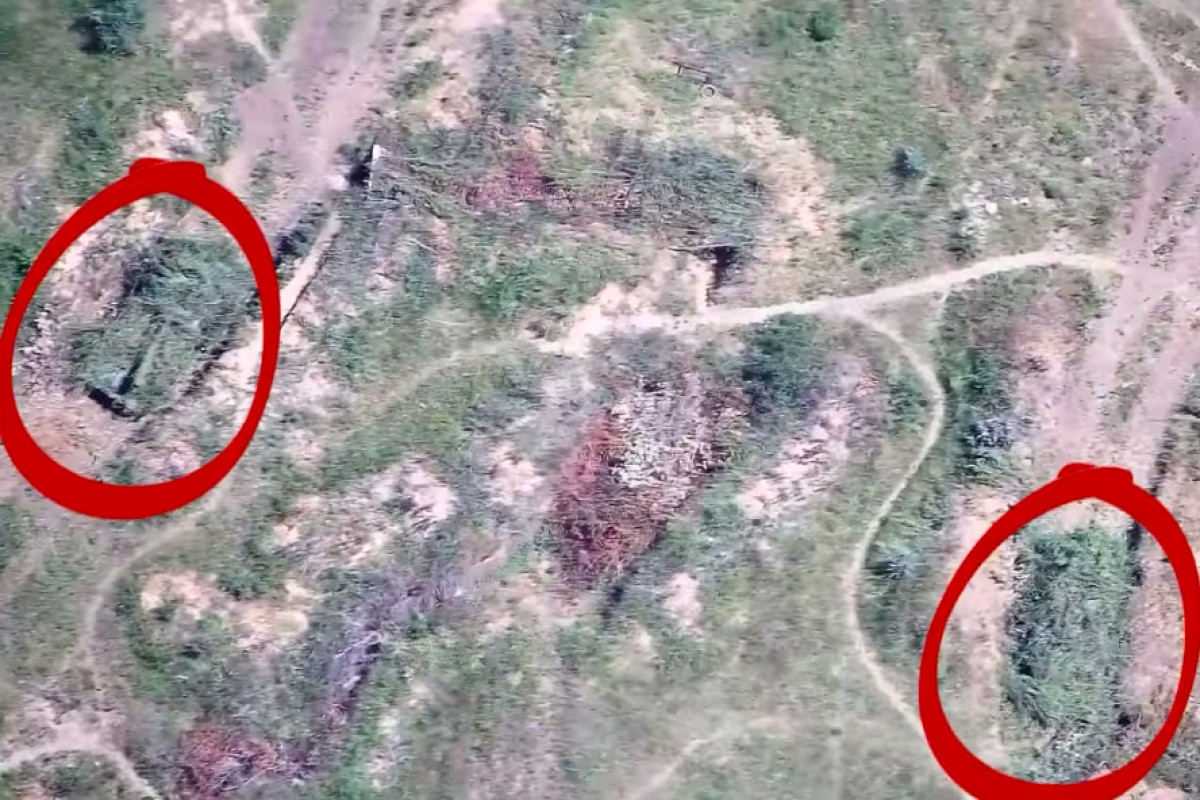 Подрывы двух САУ боевиков под Горловкой снял на видео дрон ВСУ - от техники мало что осталось