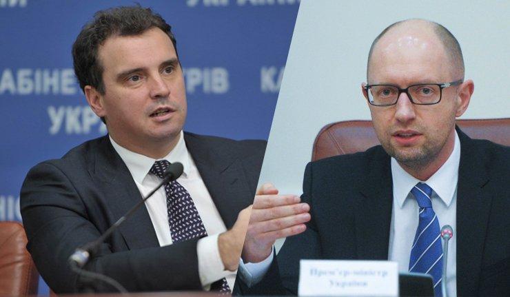 Переполох в Кабмине: Яценюк не может найти Абромавичуса и считает, что министр от него скрывается