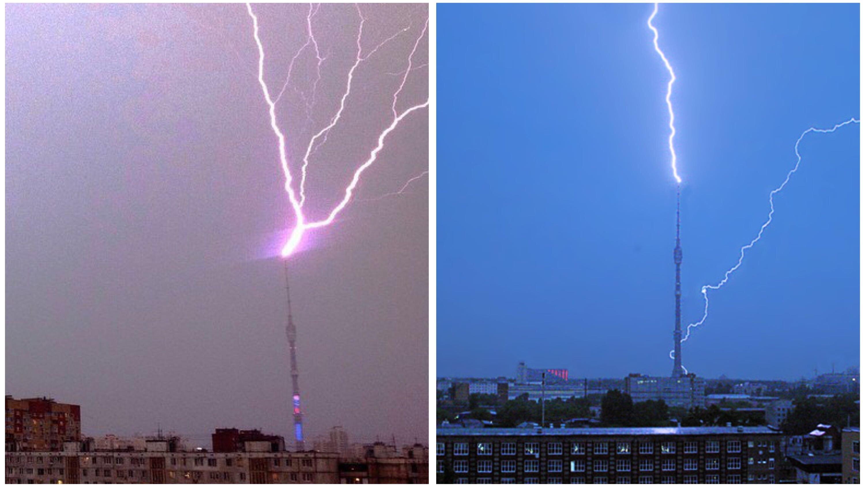 НЛО, пришельцы, климатическое оружие, аномалия, молния, Останкинская телебашня, феномен, атака