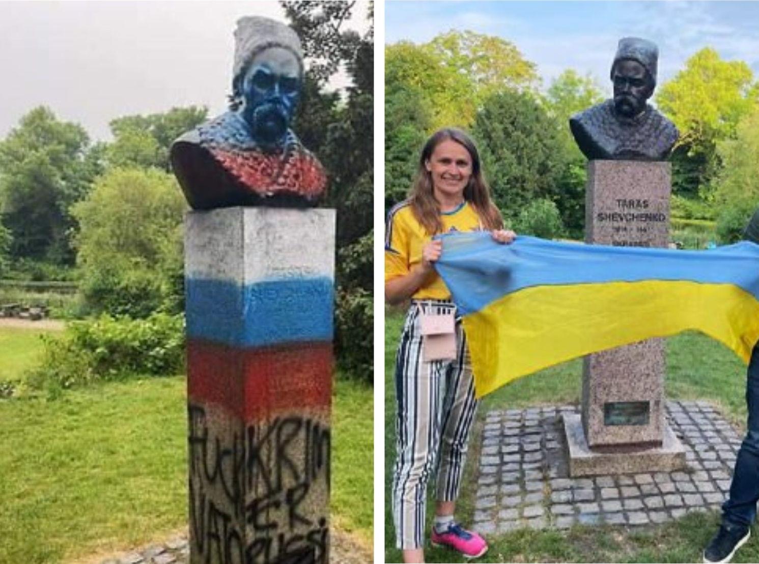 В Дании восстановили оскверненный вандалами памятник Шевченко, – посольство Украины