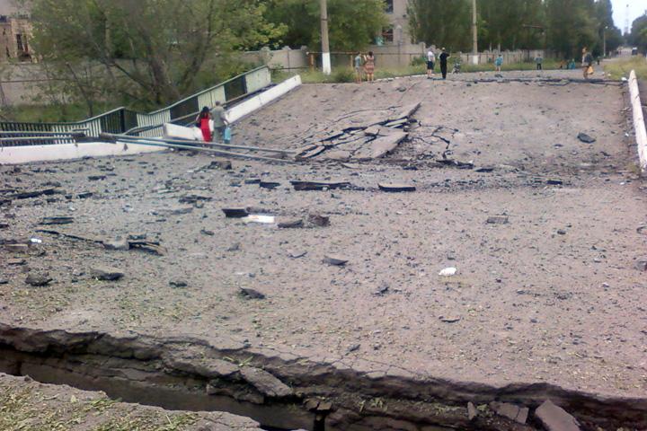 СНБО: Ополченцы взорвали еще один мост в Донецкой области