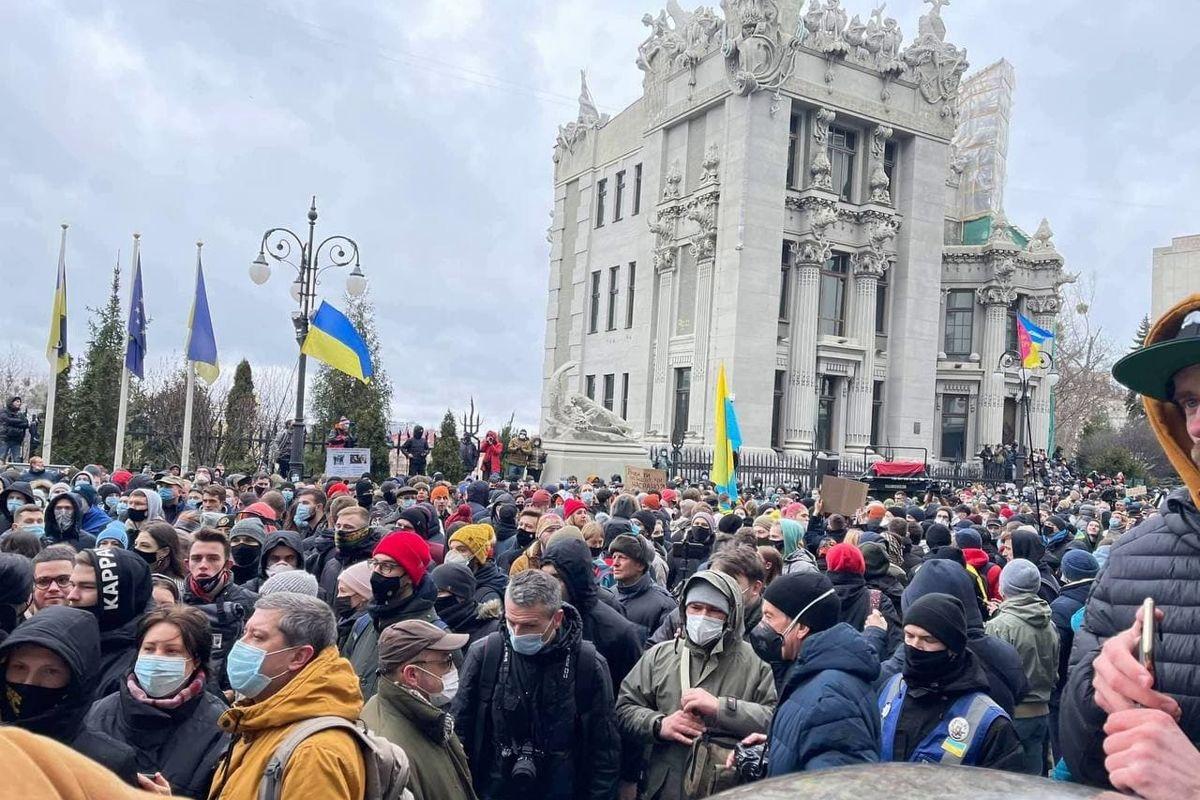 Волю Стерненко: тысячи пришли под ОП и поставили три условия Зеленскому - кадры
