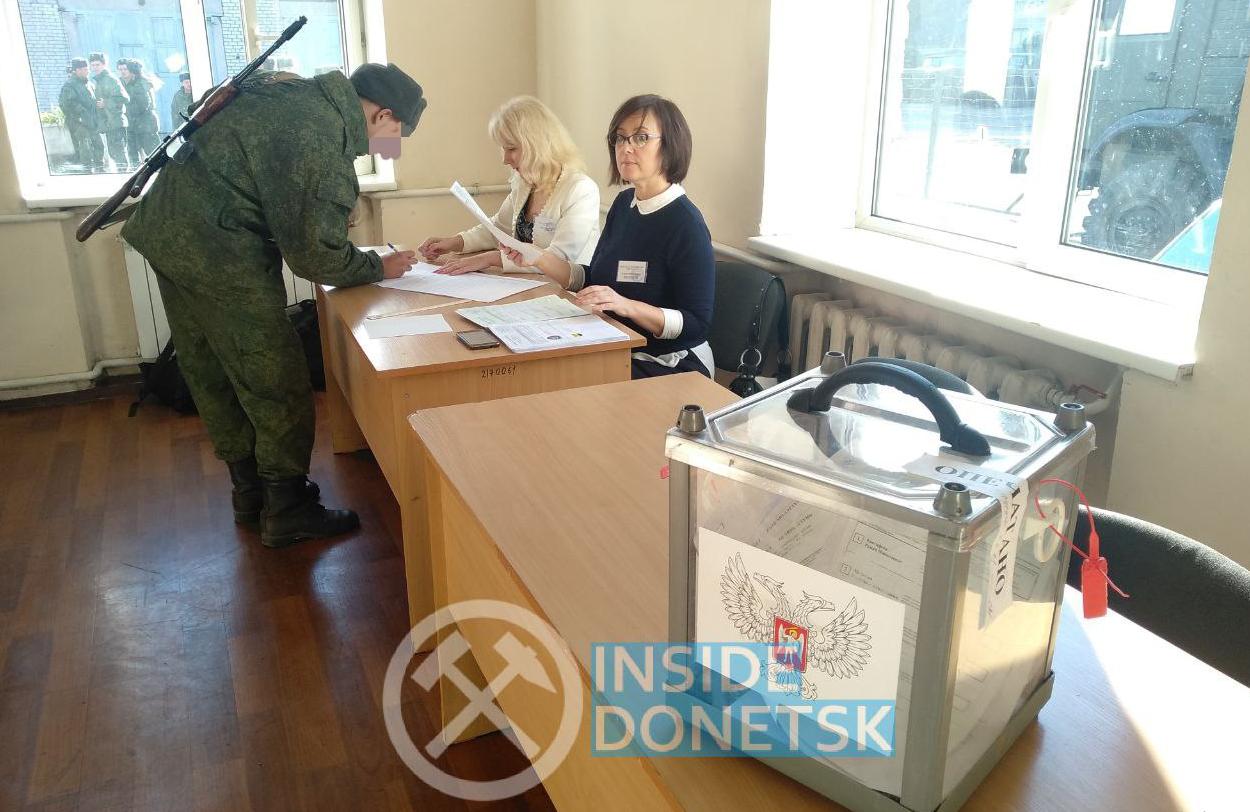 Украина, ДНР, Донбасс, Донецк, Выборы, Урны, Боевики.